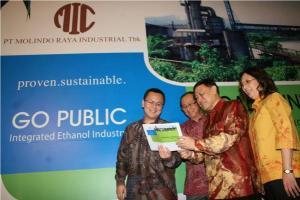 Jajaran manajemen Molindo saat roadshow IPO di Surabaya (Purna Budi/kabarbisnis.com)