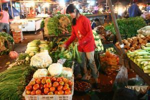 Sayur mayur yang dijual di sebuah pasar tradisional. (dok. kabarbisnis.com)